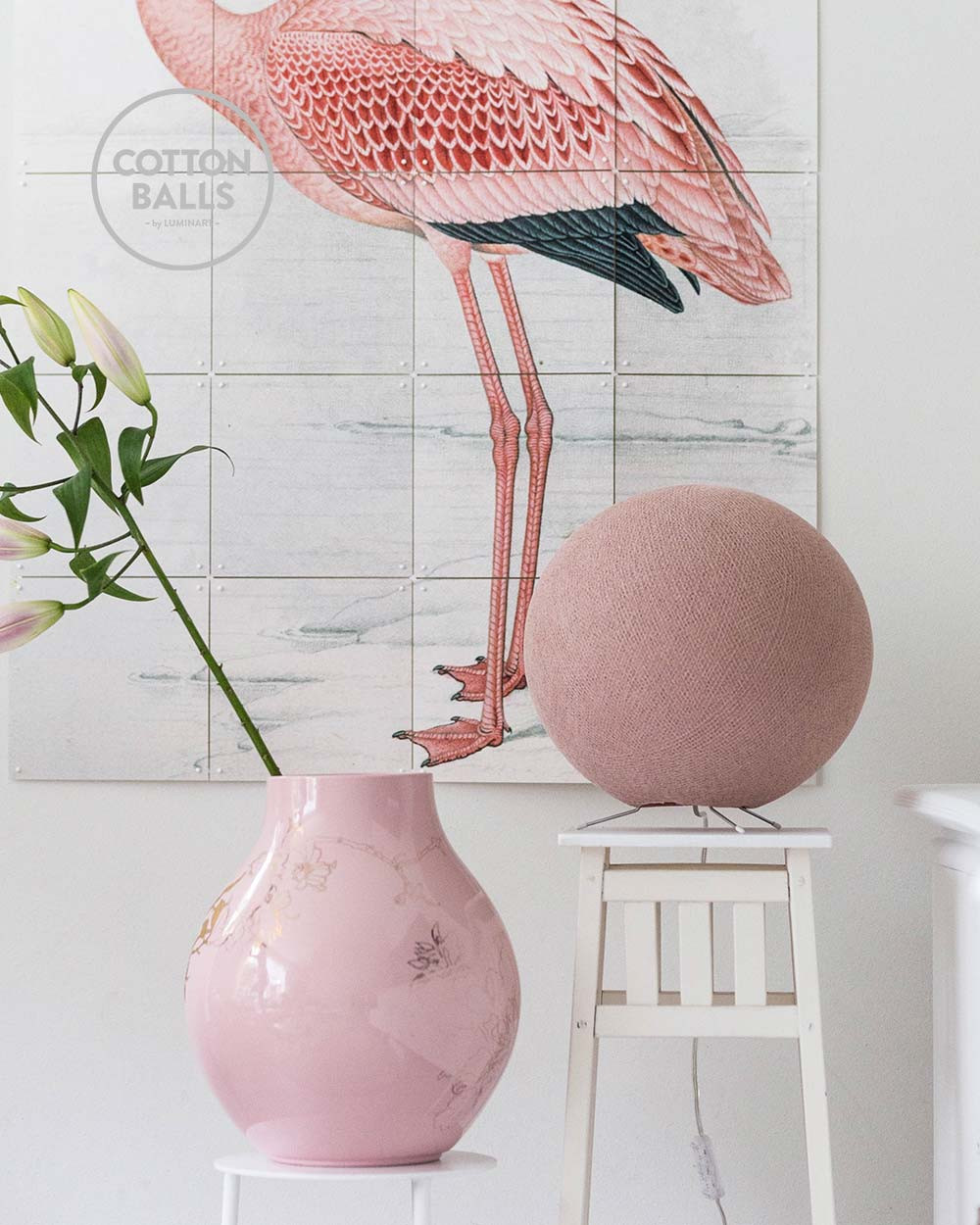 Standing Lamp - Pale Pink
