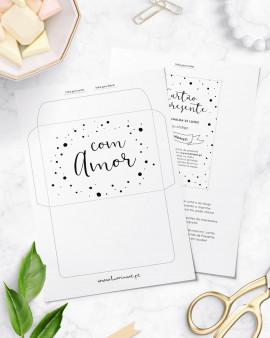 Gift Card Black White Dots